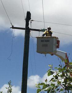 Western Power Repairing Damage