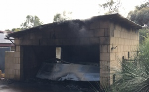 Destroyed Garage